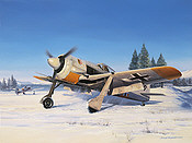 Snow Warriors, Fw-190A-4 JG 54 Gruenherz aviation art print by Nicolas Trudgian