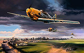 Summer Storm, Me-109 JG 26 aviation art print by Nicolas Trudgian