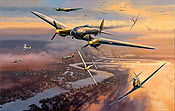 Target London, Heinkel He-111 KG 53 aviation art print by Nicolas Trudgian