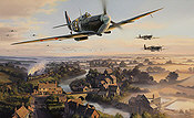 The Biggin Hill Wing, Spitfire V Biggin Hill aviation art print by Nicolas Trudgian