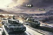 The Cold Front, Focke Wulf 190A aviation and tank art print by Nicolas Trudgian