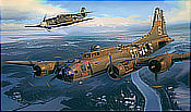 The Guardian - Messerschmitt Bf 109 and B-17 Flying Fortress Aviation Art by Nicolas Trudgian