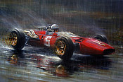 Surtees at Spa - Ferrari 312 F1 motorsport art by Paul Dove