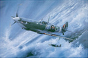 Borrowed Sky - Spitfire Aviation Art by Peter R. Westacott