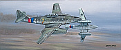 Guardians of the Reich, Me-262 aviation art print by Philip West