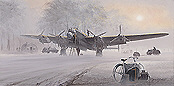 In the Mists of Time, Avro Lancaster aviation art print by Philip E West