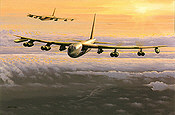Lone Star Lady, B-52 Bomber aviation art print by Philip E West