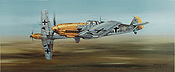 Looking for Trouble, Messerschmitt Bf 109 aviation art print by Philip E West