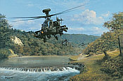 Right Here Right Now, Apache Longbow aviation art print by Philip E West