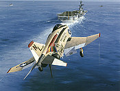 Screaming Eagle, F4 Phantom USS Coral Sea naval aviation art print by Philip E West