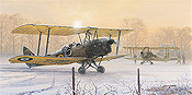 Those Were The Days, Tiger Moth aviation art print by Philip E West