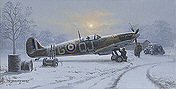 Winter of '41, Spitfire aviation art print of Philip E West
