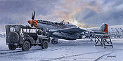 Winter of '45, P-51D Mustang Old Crow aviation art print by Philip E West