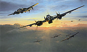 Dawn Strike, Messerschmitt Bf 110 aviation art print by Richard Taylor