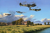 Dawn Till Dusk, Spitfire Aviation Art by Richard Taylor