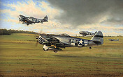 Days of Thunder, P-47D Aviation Art by Richard Taylor