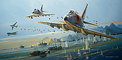 Haiphong Havoc, A-4 Skyhawk und A-6 Intruder aviation art print by Roibert Bailey