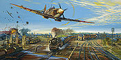 Smiths Defiants, Spitfire Ian Smith aviation art print by Robert Bailey
