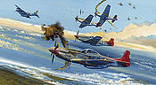 Tuskegee Trigger Time, P-51 Mustang aviation art print by Robert Bailey