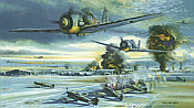 Wakeup Call, Focke Wulf 190 JG3 aviation art print by Robert Bailey