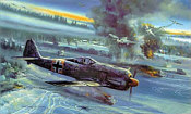 Bear Trap, FW-190 JG51 aviation art print by Robert Bailey