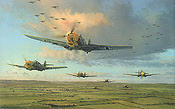Air Armada, Me-109 art print by Robert Taylor