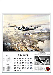 Aircraft Wall Calendar 2013 July, by Robert Taylor