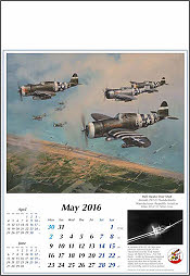 Airplane Calendar 2016 May P47 Thunderbolt Aviation Art by Robert Taylor