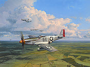 American Eagles, P-51D Mustang Glamorous Glen III aviation art print by Robert Taylor