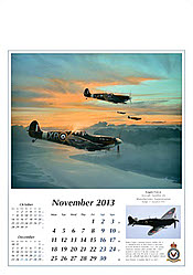 Aviation Art Calendar 2013 November
