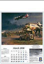 Aviation Art Calendar 2018 B-17 Flying Fortress March by Robert Taylor