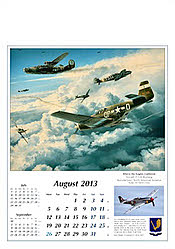 Aviation Art Wall Calendar 2013 August
