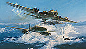 Combat over the Reich - Me-262 and B-17 Aviation Art by Robert Taylor