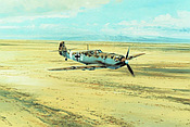 Desert Warrior - Messerschmitt Bf 109 of JG27 Aviation Art by Robert Taylor
