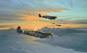 Eagle Force, Spitfire Vb aviation art print by Robert Taylor