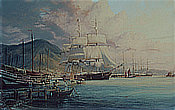 Flying Cloud - American Clipper at Hong Kong 1860 - Maritime art by Robert Taylor