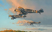 Hunters at Dawn - JG 52 Messerschmitt Bf 109 Aviation Art by Robert Taylor