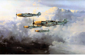 JG-52 - Messerschmitt Bf-109 Aviation Art by Robert Taylor