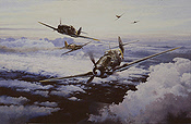 Knights of the Eastern Front - Bf-109s of JG-52 - Aviation Art by Robert Taylor