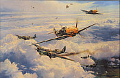 Most Memorable Day, Adolf Galland Me-109 aviation art print by Robert Taylor