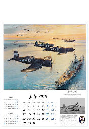 Reach for the Sky Kalender 2019 F4U Corsair US Navy Juli