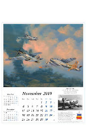 Robert Taylor Luftfahrtkunst Kalender 2019 B-17 Flying Fortress November