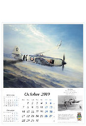 Reach for the Sky Kalender 2019 RAF Flugzeuge Sea Fury Oktober