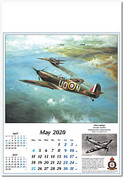 WWII Military Aircraft Calender 2020 Reach for the Sky RAF Spitfire May