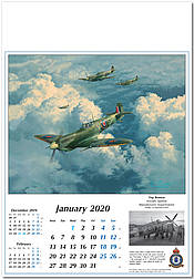 Reach for the Sky 2020 Calendar Royal Air Force Warbirds Spitfire January by Robert Taylor