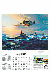 Reach for the Sky Aircraft Calendar 2018 July Robert Taylor The Channel Dash