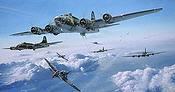 Schweinfurt - The Second Mission, USAAF B-17 Bomber aviation art print by Robert Taylor
