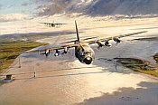 Severn Trail, Royal Air Force C-130 Hercules aviation art print by Robert Taylor