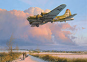Skipper Comes Home, Boeing B-17 Flying Fortress aviation art print by Robert Taylor