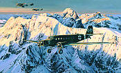 Special Duties, Junkers Ju-52 and Me-109 JG53 aviation art print by Robert Taylor